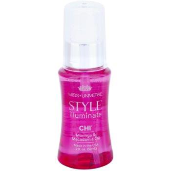 CHI Style Illuminate Miss Universe olio protettivo per capelli sani e belli (Moringa & Macadamia Oil) 59 ml