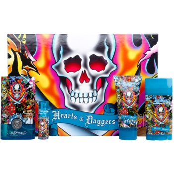 Christian Audigier Ed Hardy Hearts & Daggers for Him kit regalo I eau de toilette 100 ml + eau de toilette 7,5 ml + gel doccia 90 ml + deo-stick 78 g