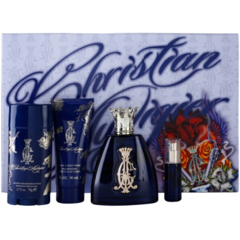 Christian Audigier For Him kit regalo I eau de toilette 100 ml + eau de toilette 7,5 ml + deo-stick 78 ml + gel doccia 90 ml