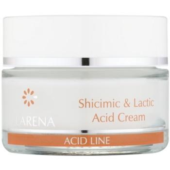 Clarena Acid Line Shicimic & Lactic Acid crema idratante antirughe impiego durante e dopo scrub 50 ml