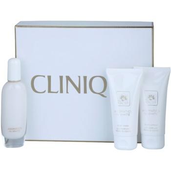 Clinique Aromatics In White kit regalo I eau de parfum 50 ml + latte corpo 75 ml + gel doccia 75 ml