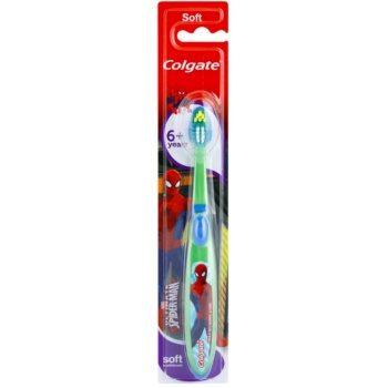 Colgate Kids 6+ Years spazzolino da denti per bambini soft Green & Blue