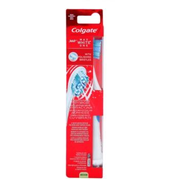 Colgate Max White One 360° spazzolino da denti a vibrazioni con batteria medium Blue (With Polishing Bristles)