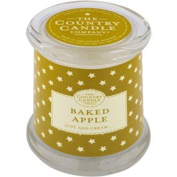 Country Candle Baked Apple candela profumata   in vetro con coperchio