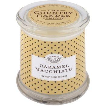 Country Candle Caramel Macchiato candela profumata   in vetro con coperchio
