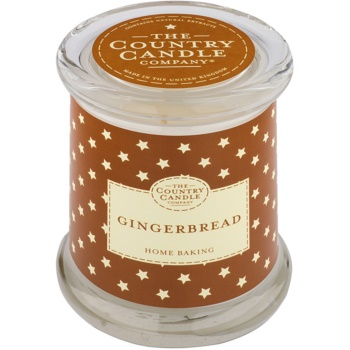 Country Candle Gingerbread candela profumata   in vetro con coperchio