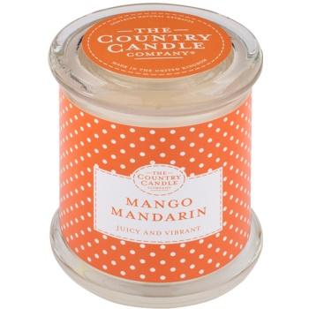 Country Candle Mango Mandarin candela profumata   in vetro con coperchio
