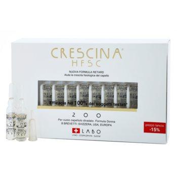 Crescina HFSC 200 fiale contro la caduta dei capelli in fase iniziale da donna 20 x 3,5 ml
