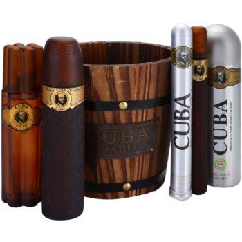 Cuba Gold kit regalo V eau de toilette 100 ml + eau de toilette 35 ml + deodorante in spray 200 ml + lozione after-shave 100 ml