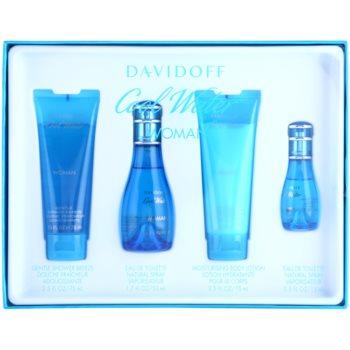 Davidoff Cool Water Woman kit regalo XIII eau de toilette 50 ml + eau de toilette 15 ml + latte corpo 75 ml + gel doccia 75 ml