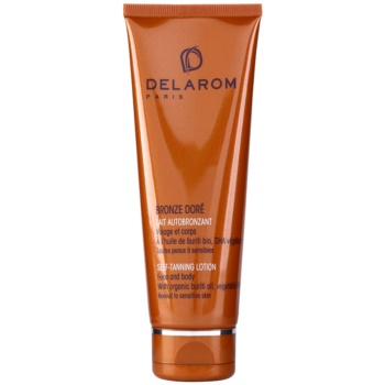 Delarom Bronze Doré latte autoabbronzante per viso e corpo (With Organic Buriti Oil, Vegetable DHA) 125 ml
