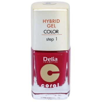 Delia Cosmetics Coral Nail Enamel Hybrid Gel smalto gel per unghie colore 03 (Step 1) 11 ml
