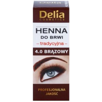 Delia Cosmetics Henna tinta per sopracciglia colore 4.0 Brown 2 ml