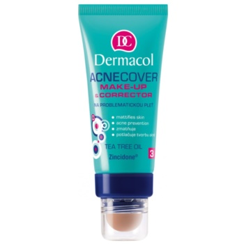 Dermacol Acnecover fondotinta e correttore per pelli problematiche, acne colore 1 (Make-up and corrector tea tree oil) 30 ml