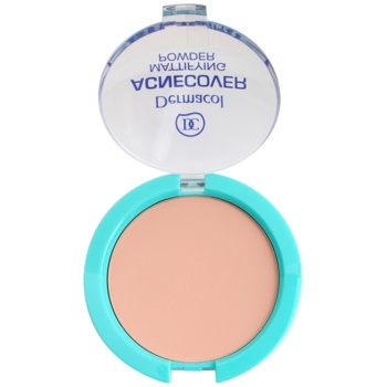 Dermacol Acnecover cipria compatta per pelli problematiche, acne colore Shell (Mattifying Powder) 11 g