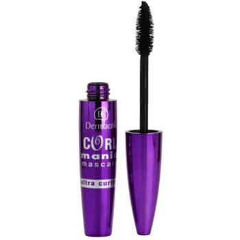 Dermacol Curl Mania mascara per ciglia allungate e curve per ciglia voluminose e curve Black (Ultra Curl & Volume Mascara) 11 ml