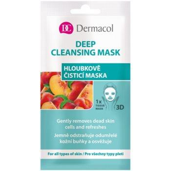 Dermacol Deep Cleasing Mask maschera in panno 3D per pulizia profonda 15 ml