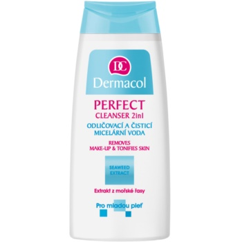 Dermacol Perfect lozione micellare detergente per pelli giovani (Cleanser 2in1 Removes Make-up & Tonifies Skin) 200 ml