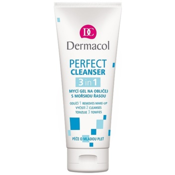 Dermacol Perfect gel detergente per il viso con alghe marine (Cleanser 3in1) 100 ml