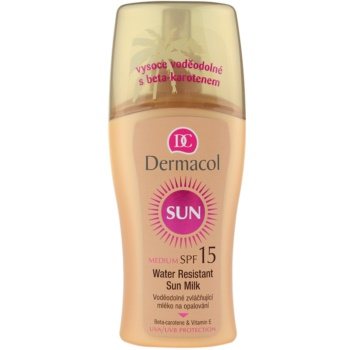 Dermacol Sun Water Resistant latte abbronzante waterproof SPF 15 (Water Resistant Sun Spray Milk) 200 ml