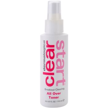 Dermalogica Clear Start Breakout Clearing lozione tonica detergente e rinfrescante in spray per viso e corpo (All Over Toner) 118 ml
