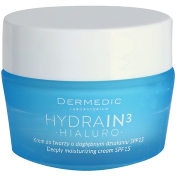 Dermedic Hydrain3 Hialuro crema di idratazione profonda SPF 15 50 g
