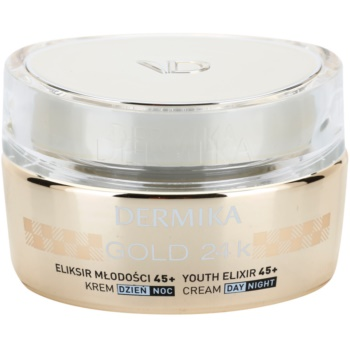 Dermika Gold 24k Total Benefit crema anti-age di lusso  45+ (24k Gold Refraction, Wrinkles Filled in from Inside) 50 ml