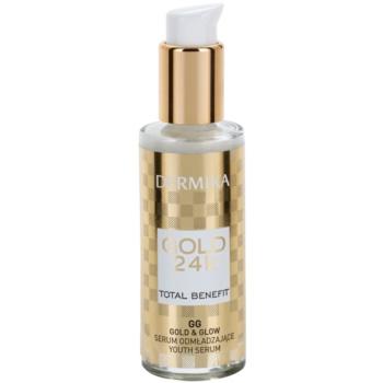 Dermika Gold 24k Total Benefit siero ringiovanente per una pelle luminosa e liscia (Skin Illumination and Glow Wrinkle Reduction) 30 ml