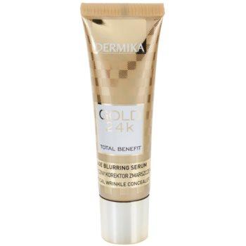 Dermika Gold 24k Total Benefit siero ringiovanente contro i segni di invecchiamento (Reduces Visibility of: Wrinkles, Discolorations, Dilated Skin Pores, Mattifies and Prevents Shine) 30 ml