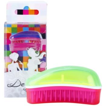 Dessata Original Mini Summer spazzola profumata per capelli Lime/Fuchsia (Brushes with Fluorescent Colours and Coconut Scented Bristles)