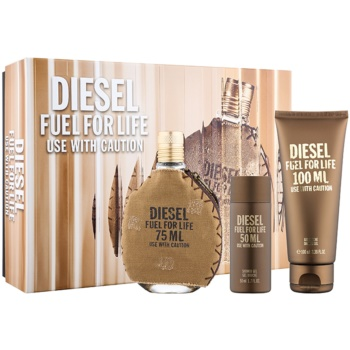 Diesel Fuel for Life Homme kit regalo II eau de toilette 75 ml + gel doccia 100 ml + gel doccia 50 ml