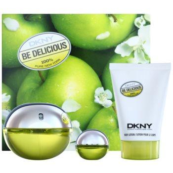 DKNY Be Delicious kit regalo XIV eau de parfum 100 ml + eau de parfum 7 ml + latte corpo 100 ml