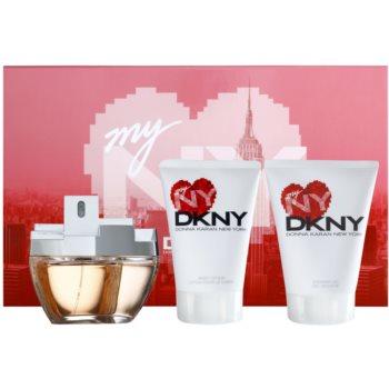 DKNY My NY kit regalo II eau de parfum 100 ml + latte corpo 100 ml + gel doccia 100 ml