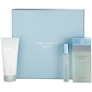 Dolce & Gabbana Light Blue kit regalo IX eau de toilette 100 ml + crema corpo 100 ml + eau de toilette 7,4 ml