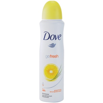 Dove Go Fresh Energize deodorante antitraspirante in spray 48 ore pompelmo e citronella  150 ml