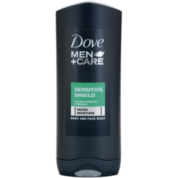 Dove Men+Care Sensitive Shield gel doccia per viso e corpo (Hypoallergenic Formula) 400 ml