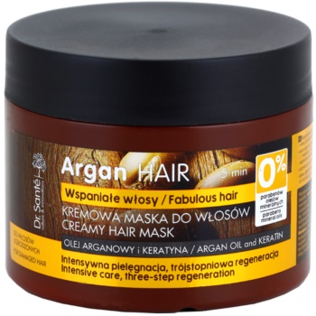Dr. Santé Argan maschera in crema per capelli rovinati (Argan Oil and Keratin, Intensive Care, Tree-Step Regeneration) 300 ml