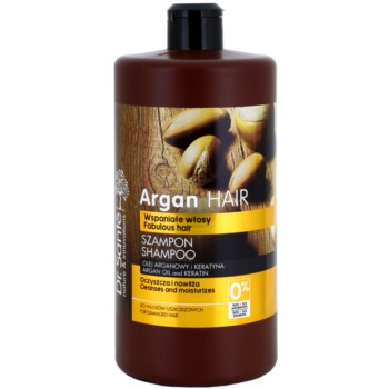 Dr. Santé Argan shampoo idratante per capelli rovinati (Argan Oil and Keratin, Cleanses and Moisturizes) 1000 ml