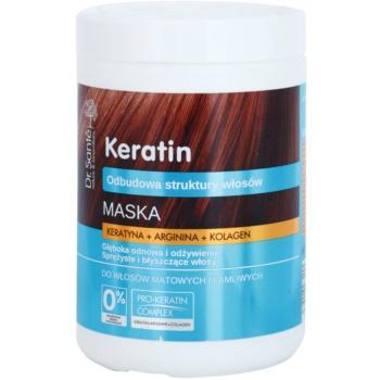 Dr. Santé Keratin maschera nutriente e di rigenerazione profonda per capelli fragili e opachi (Keratin, Arginine and Collagen) 1000 ml