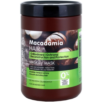 Dr. Santé Macadamia maschera in crema per capelli deboli (Macademia Oil and Keratin, Reconstruction and Protection) 1000 ml