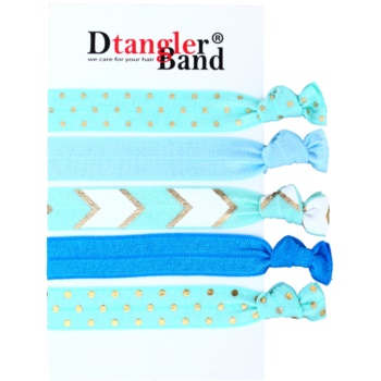 Dtangler DTG Band Set elastici per capelli 5 pz (Blue)