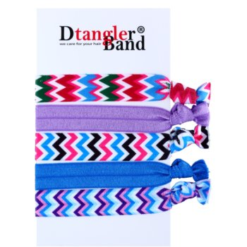 Dtangler DTG Band Set elastici per capelli 5 pz (Stripes)