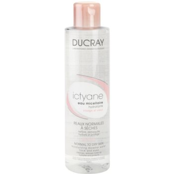 Ducray Ictyane acqua micellare detergente per viso e occhi (Moisturizing Micellar Water For Face And Eyes) 200 ml