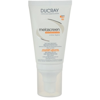 Ducray Melascreen crema abbronzante leggera contro le macchie della pelle SPF 50+ (Light Cream) 40 ml