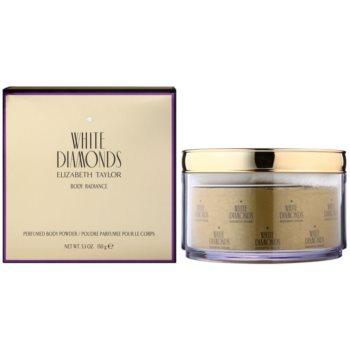 Elizabeth Taylor White Diamonds borotalco per donna 150 g