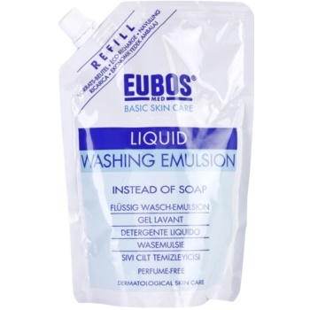 Eubos Basic Skin Care Blue emulsione detergente non profumata ricarica (Physiological pH, Without Alkaline Soap and Perfume) 400 ml