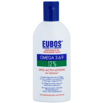 Eubos Sensitive Dry Skin Omega 3-6-9 12% trattamento intensivo per pelli secche e irritate Lipo Active Lotion (Defensil) 200 ml