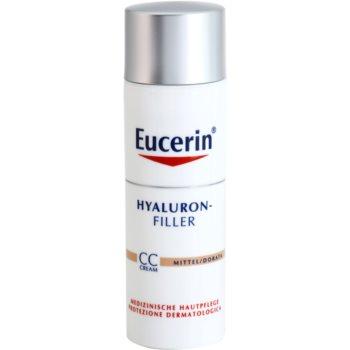 Eucerin Hyaluron-Filler CC cream antirughe profonde SPF 15 colore Medium Dark 50 ml
