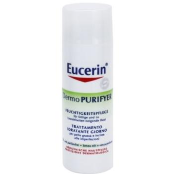 Eucerin Dermo Purifyer crema opacizzante per pelli problematiche, acne (Hydrating Day Care) 50 ml
