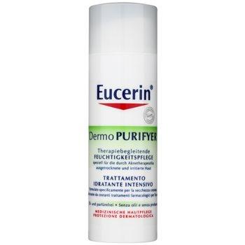 Eucerin Dermo Purifyer crema giorno idratante per pelli problematiche, acne SPF 30 + UVA (Hydrating Care) 50 ml